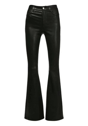 High Waist Flared Leather Pants