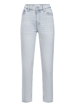 Mom Fit Cotton Denim Straight Jeans