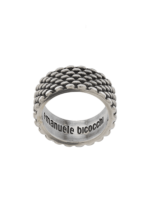Emanuele Bicocchi tyre band ring - SILVER