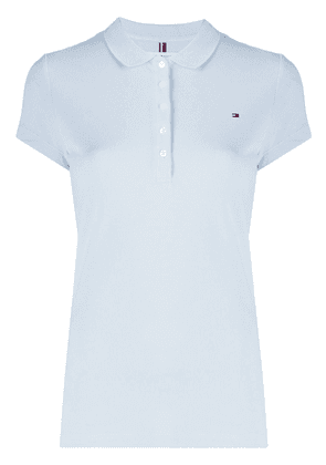 Tommy Hilfiger logo embroidered polo shirt - Blue