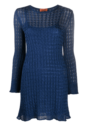 Missoni fitted lace dress - Blue