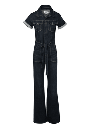 Flared Cotton Denim Jumpsuit