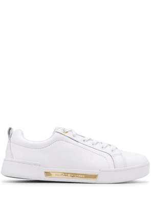 Tommy Hilfiger logo plaque sneakers - White