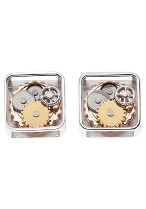 Tateossian gear detail cufflinks - Metallic