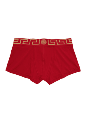 Versace Underwear Red and Gold Medusa Low-Rise Boxer Briefs