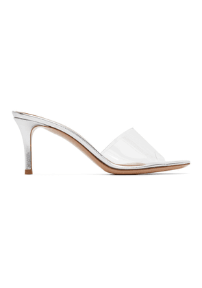Gianvito Rossi Silver Glass Heeled Sandals