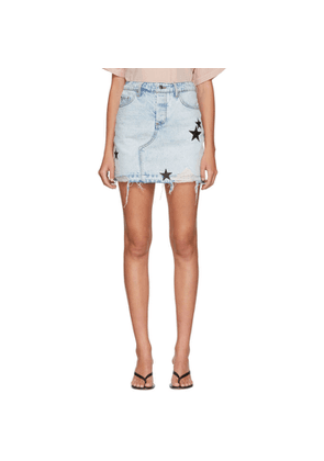 Amiri Indigo Denim Star Skirt