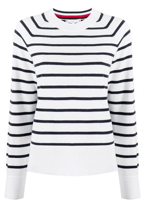 Tommy Hilfiger striped colour block jumper - White