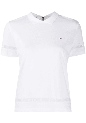 Tommy Hilfiger embroidered logo T-shirt - White