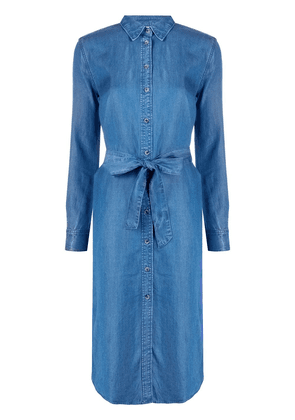Tommy Hilfiger belted denim shirt dress - Blue