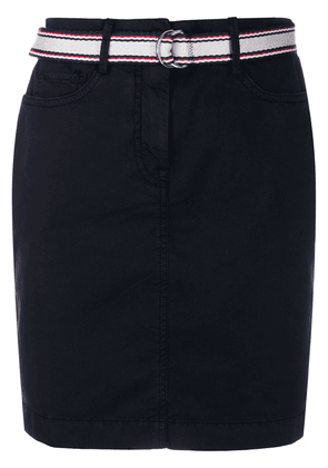 Tommy Hilfiger belted straight skirt - Blue
