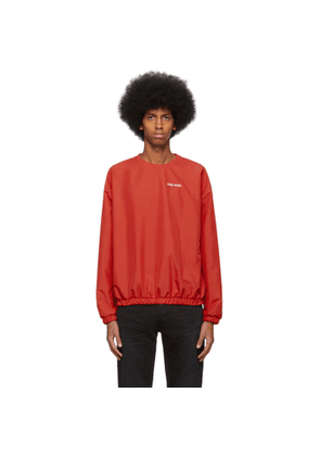 Pyer Moss Red Taffeta Crewneck Sweater