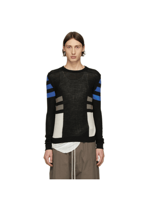 Rick Owens Black Wool Level Crewneck Sweater