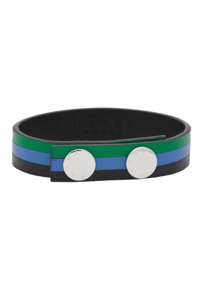 Marni Green and Blue Leather Bracelet