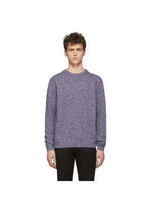 Paul Smith Blue and Burgundy Cotton Linen Marled Sweater