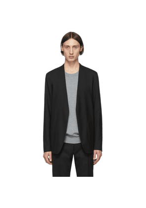Maison Margiela Black Wool Collarless Blazer