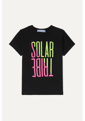Paradised Kids - Neon Printed Cotton-jersey T-shirt - Black