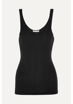 James Perse - The Daily Ribbed Stretch-cotton Tank - Black