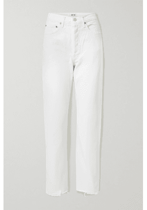 AGOLDE - '90s Frayed Mid-rise Straight-leg Jeans - Off-white