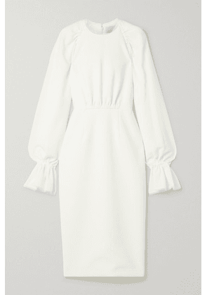 Roksanda - Vaniria Tulle-trimmed Gathered Cady Dress - Ivory