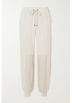 TOM FORD - Paneled Silk And Cotton-blend Jersey Track Pants - White