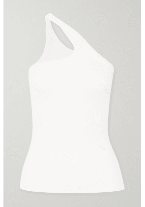 The Line By K - Driss One-shoulder Ribbed Stretch-jersey Top - White