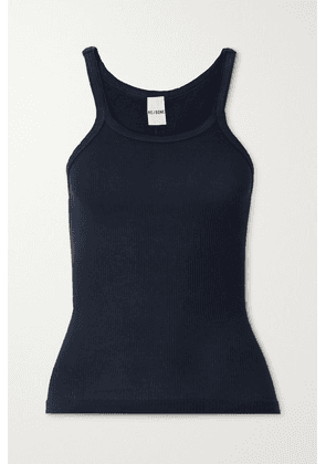 RE/DONE - Ribbed Cotton-jersey Tank - Midnight blue