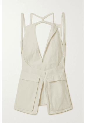 Jacquemus - Ascea Layered Open-back Poplin Top - Off-white