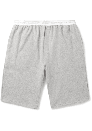 Calvin Klein Underwear - Mélange Stretch Cotton-Blend Pyjama Shorts - Men - Gray
