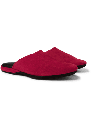 Charvet - Suede Slippers - Men - Red
