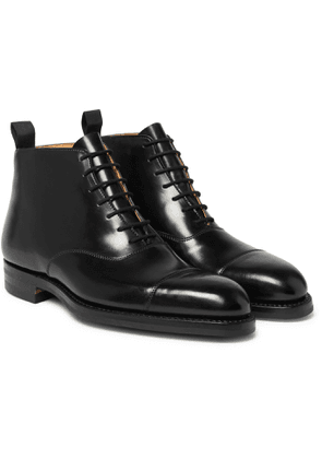 George Cleverley - William Cap-Toe Horween Shell Cordovan Leather Boots - Men - Black
