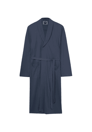 Hanro - Night and Day Cotton Robe - Men - Blue