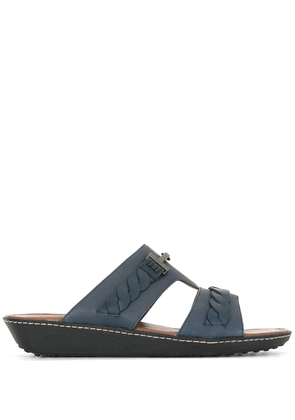 Tod's slip-on leather sandals - Blue