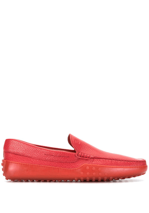 Tod's leather loafers - Red