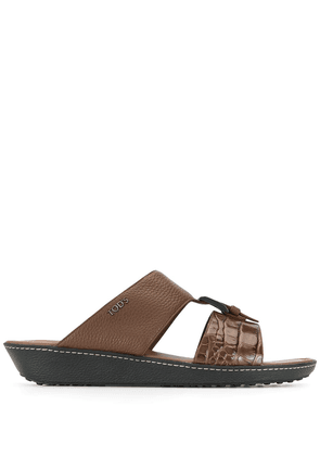 Tod's buckled cut-out sandals - Brown