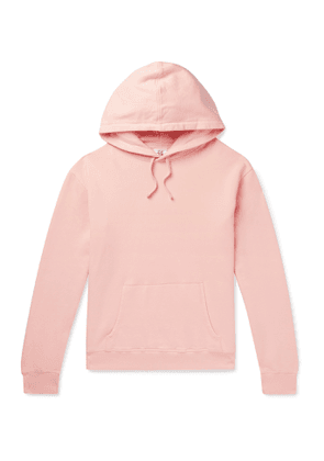 Les Girls Les Boys - Logo-Print Loopback Cotton-Jersey Hoodie - Men - Pink