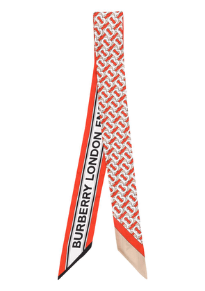 Burberry Monogram and Logo print scarf - Red