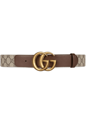 Gucci double G buckle GG belt - Brown
