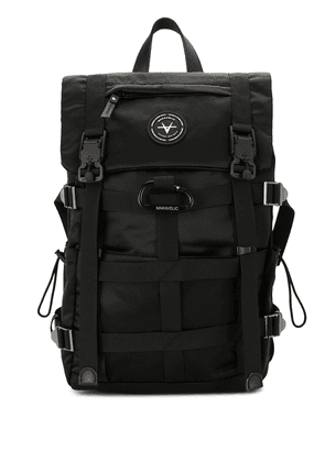 Makavelic logo patch backpack - Black