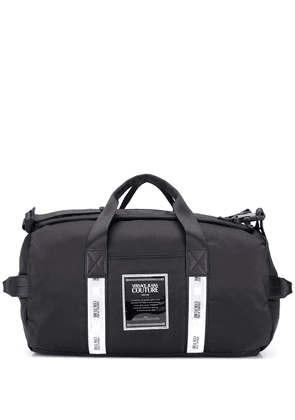 Versace Jeans Couture logo-patch holdall - Black