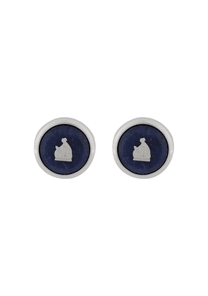 LANVIN Mother and Child enamel cufflinks - SILVER