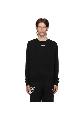 Off-White Black Masked Face Sweatshirt