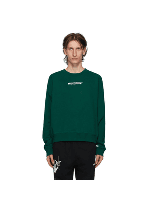 Off-White Green and White Hand Painters Sweatshirt