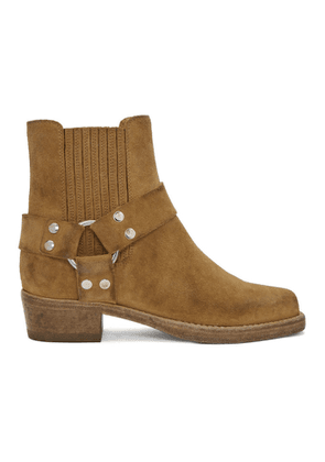 Re/Done Tan Suede Short Cavalry Boots