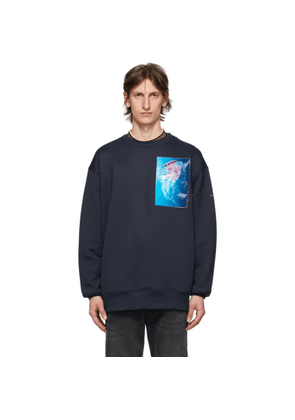 Acne Studios Navy Jellyfish Patch Sweatshirt