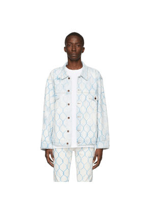 Off-White Off-White and Blue Denim Fence Jacket