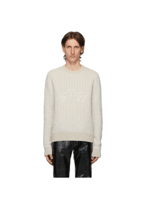 Off-White Beige Cables Sweater
