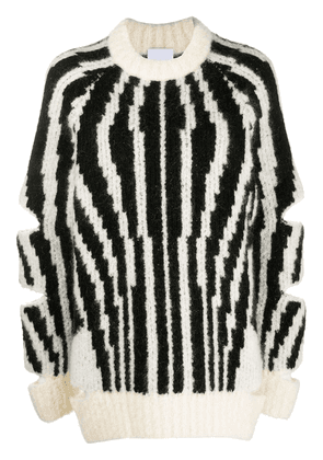 Burberry cut-out oversized jumper - Black