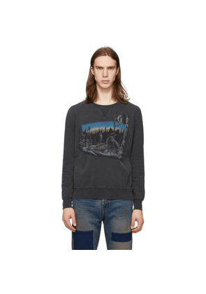Remi Relief Black Animal Crewneck Sweater