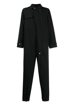 Jil Sander buttoned long-sleeved jumpsuit - Black